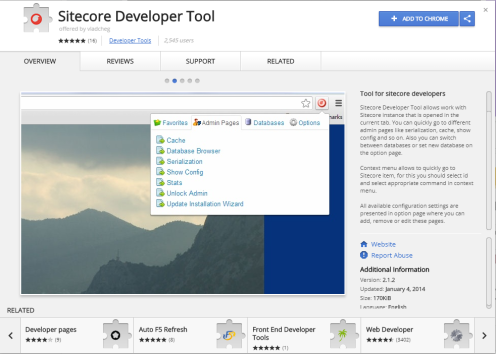 Chrome Sitecore Developer Tool